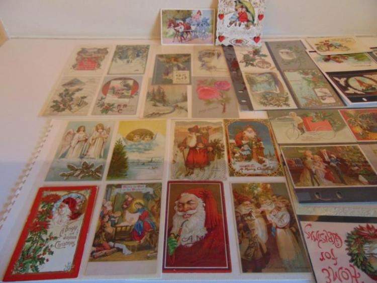 Victorian Santa Claus post cards and more. This is a large lot!