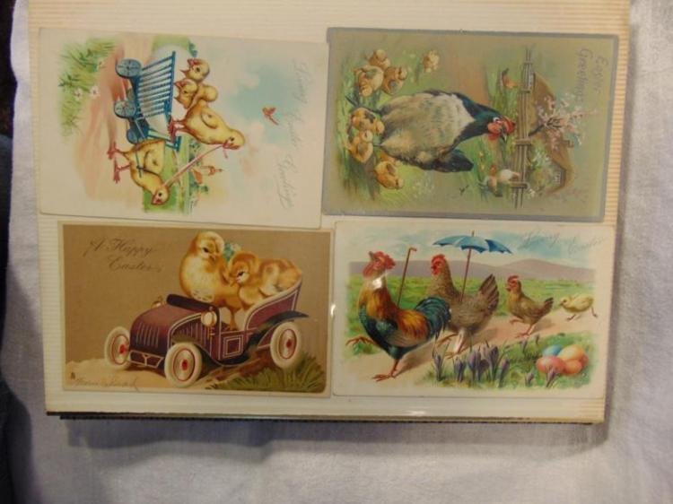 Victorian post cards, to include: Easter; Christmas; St. Patrick's Day; Bonnet Baby's; Bears; Chickens; Birds; Roosters; Kitty's; and Floral.