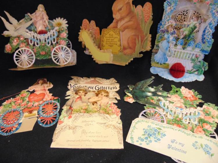 valentines crafts for preschoolers of six large turn of the century valentines to include 5667