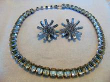 Signed Eisenberg Ice rhinestone necklace (14.5