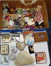 Large lot of costume jewelry and misc.