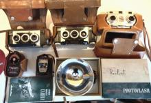 Two Revere vintage cameras; along with a Stereo Realist camera in original cases
