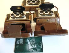 Three Stereo Realist vintage cameras in original cases, in good condition; all a