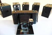 Group of turn of the century cameras to include: No. 3 Folding Hawkeye; along wi