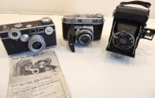 Group of three cameras to include: 3.5 50mm Argus Coated Cintar camera in good c