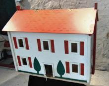 Two factory made painted dollhouses from the 1930's - 1940's with one being a Du