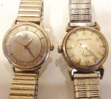 Group of two men's watches; a Bulova self-winding watch, and an Omega automatic