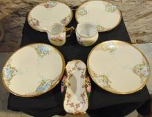 Large group of china to include: six quality hand painted Bavaria plates from 19