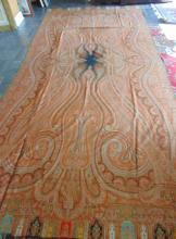 1850's - 1860's immense paisley shawl or throw, owned by Susan Barker Duncombe;