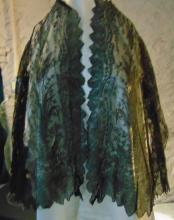 Antique Victorian elaborate black lace armed blouse or bed jackets. There are a total of