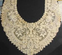 A rare French nun made Battenberg style large lace trim which measures roughly 1