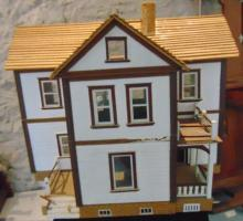 Custom made two part farm dollhouse