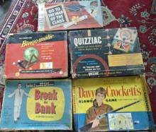 Games from the 1950's - 1960's to include: Go to the Head of the Class, Bingo-ma