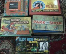 Group of late 1950's early 1960's board games to include: Lie Detector, Elliot N