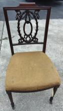 Quality Victorian hand carved side chair