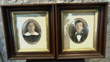 Two walnut framed pioneer pictures