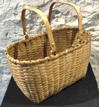 Wisconsin handmade double handled Indian basket