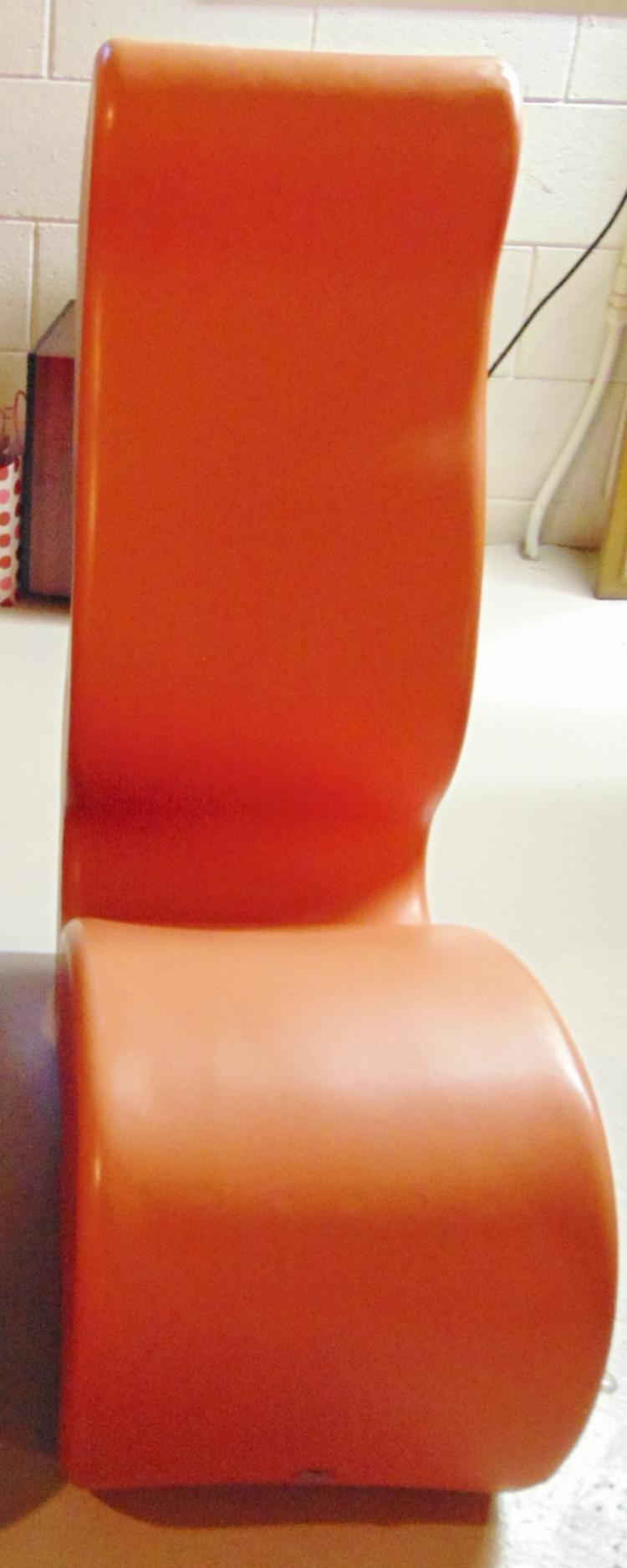 Verner Panton Phantom chairs 1998 by Innovation, signed, orange in color