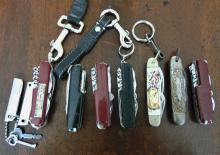 Large lot of pocket knives