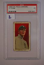 1909 E95 Philadelphia Caramel Ty Cobb PSA 1