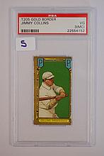 1911 T205 Gold Border Jimmy Collins PSA VG 3 (MC)