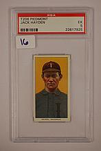 1909-1911 T206 Piedmont Jack Hayden PSA EX 5