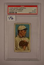 1909-1911 T206 Sweet Caporal Walter Johnson Hands