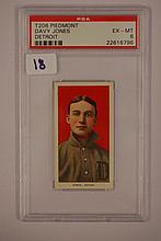 1909-1911 T206 Piedmont Davy Jones Detroit PSA EX-