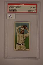 1909-1911 T206 Piedmont Harry Krause Pitching PSA