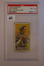 1909-1911 T206 Piedmont Joe Tinker Bat On Shoulder