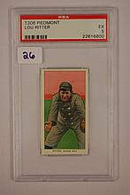 1909-1911 T206 Piedmont Lou Ritter PSA EX 5