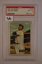 1951 Bowman 165 Ted Williams PSA VG  4