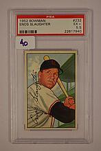 1952 Bowman 232 Enos Slaughter PSA E +5.5