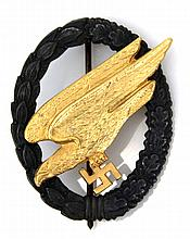 WWII GERMAN PARATROOPER GOLD BADGE
