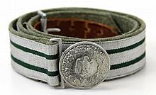 WWII GERMAN OFFICER'S BROCADE BELT AND BUCKLE