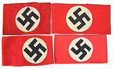 WWII GERMAN NAZI PARTY ARMBAND LOT OF 4