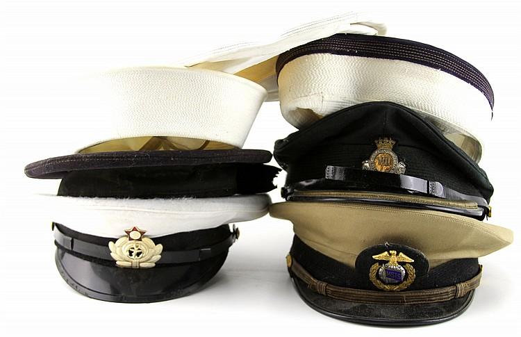 MIXED GROUPING OF VARIOUS MILITARY HATS