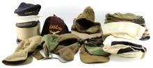 Lot 9032: BOX LOT OF OVER 42 VARIOUS MILITARY HATS