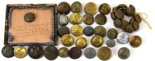 Lot 9039: ANTIQUE MILITARY BUTTON COLLECTION