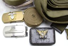 Lot 9044: LARGE US MILITARY BELT COLLECTION