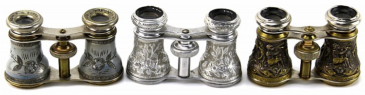 3 ANTIQUE FRENCH OPERA GLASSES