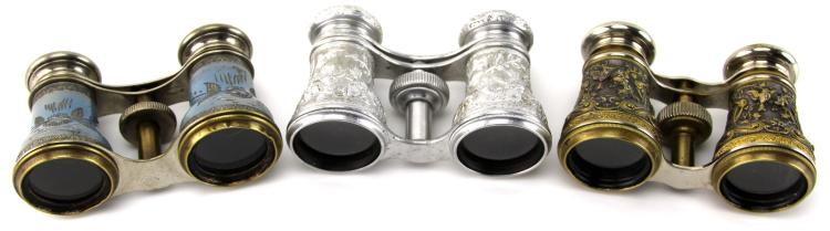 Lot 9048: 3 ANTIQUE FRENCH OPERA GLASSES