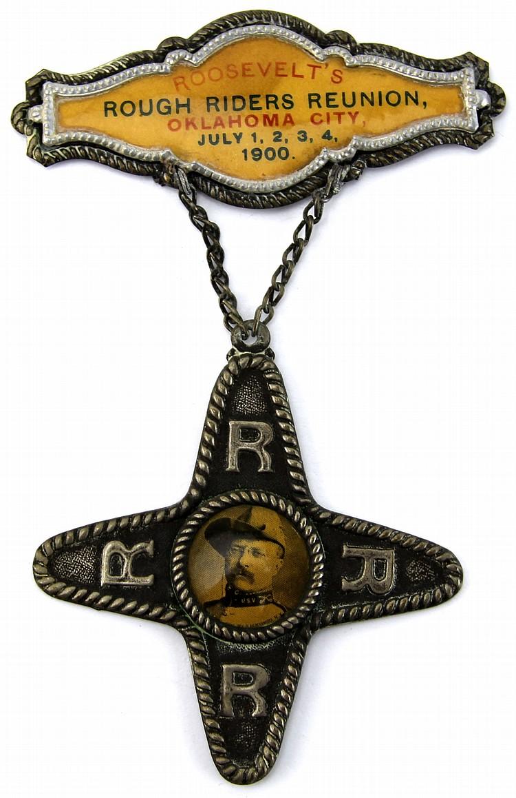 1900 OKLAHOMA CITY ROUGH RIDERS REUNION PIN