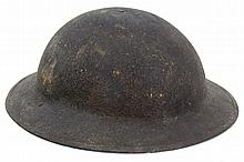Lot 9073: WWII US ARMY M1917 DOUGHBOY BRODIE HELMET
