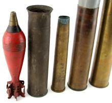 Lot 9079: INERT / TRENCH ART SHELL LOT OF NINE