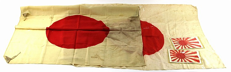 WWII JAPANESE FLAG LOT
