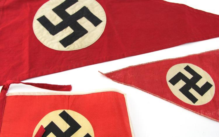 Lot 9084: WWII GERMAN PENNANT LOT OF THREE