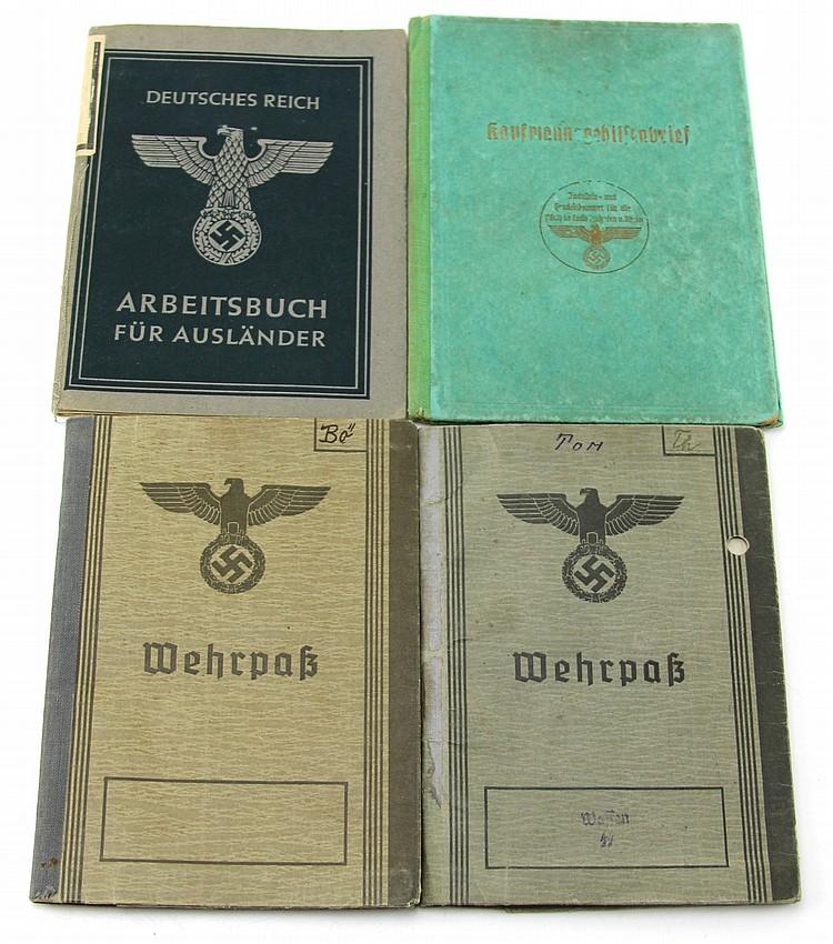 WWII GERMAN PASS BOOK LOT