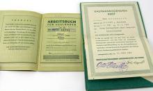 Lot 9093: WWII GERMAN PASS BOOK LOT