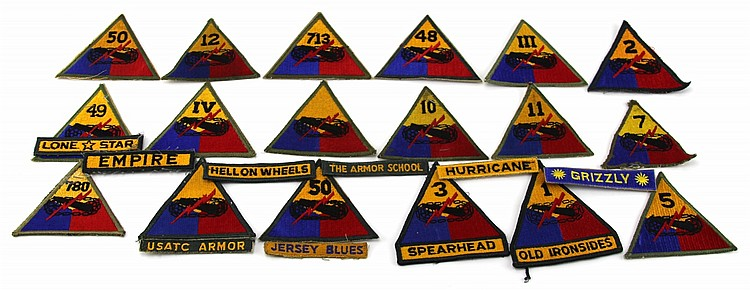 18 US ARMY ARMORED DIVISION PATCHES